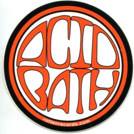 ACID BATH Circle Sticker Orange