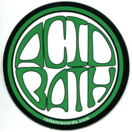 ACID BATH Circle Sticker Green