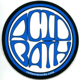 ACID BATH Circle Sticker Blue