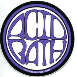 ACID BATH Circle Sticker Purple
