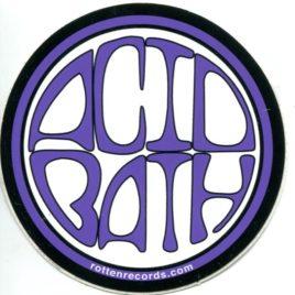 ACID BATH Circle Sticker Purple