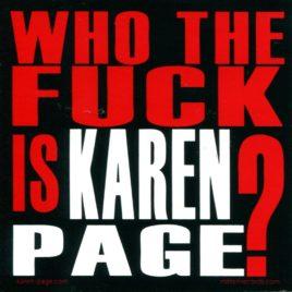 KAREN PAGE Sticker